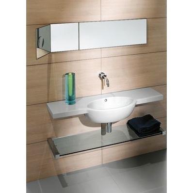 Curved Bathroom Sink : Bathroom Sink, GSI 665211, Curved White Ceramic Wall Mounted Bathroom ...