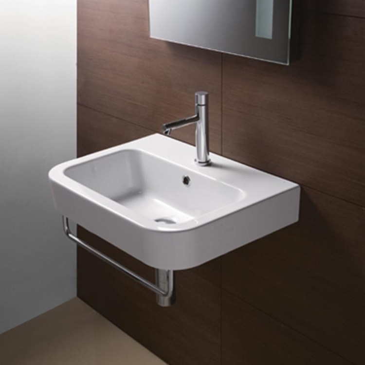 bathroom sink curved rectangular white ceramic wall mounted bathroom sink gsi