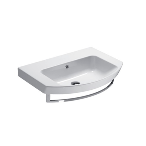 Bathroom Sink, GSI 773211-TB, Square Wall Mounted Ceramic Sink with ...