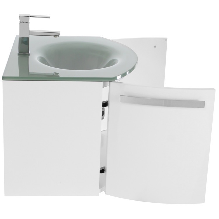 bathroom vanity acf cd133 28 inch glossy white bathroom vanity with