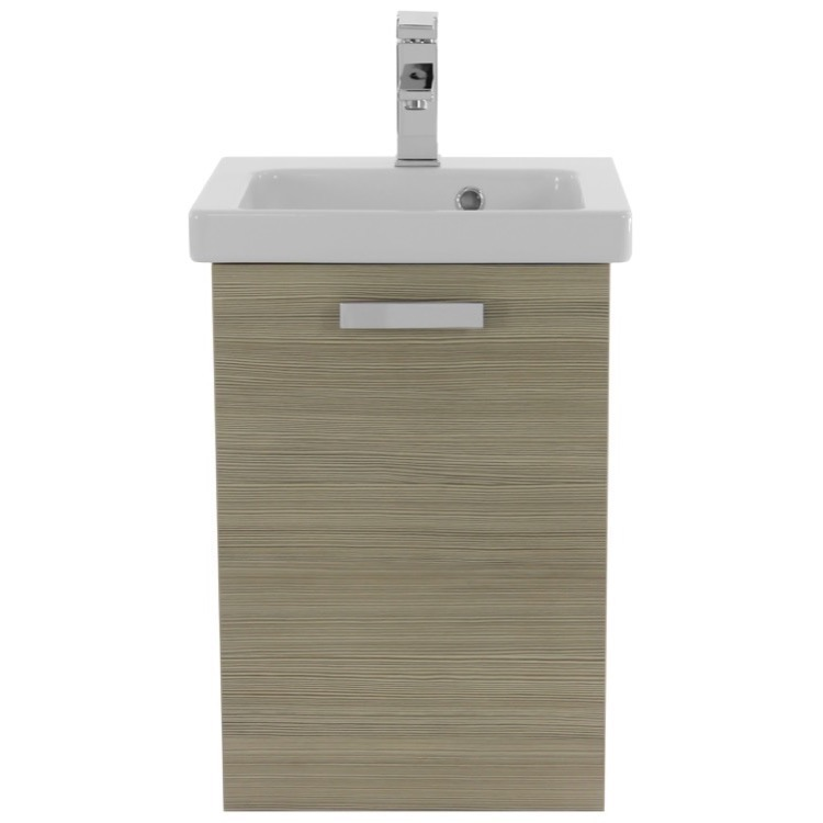 Acf Cubical   Inch Small Larch Canapa Wall Mounted Bathroom Vanity