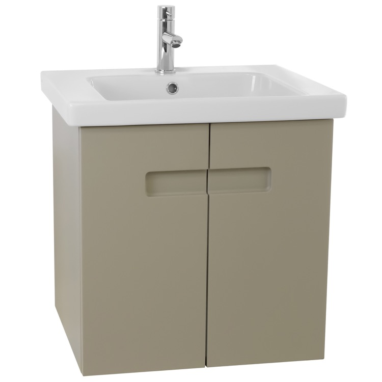 Stupendous 21 Inch Pvc Matt Canapa Bathroom Vanity Set With Inset Handles Download Free Architecture Designs Intelgarnamadebymaigaardcom