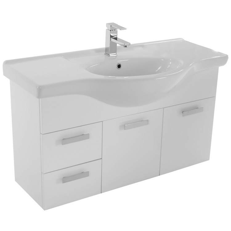 bathroom vanity acf ph51 39 inch wall mount glossy white bathroom