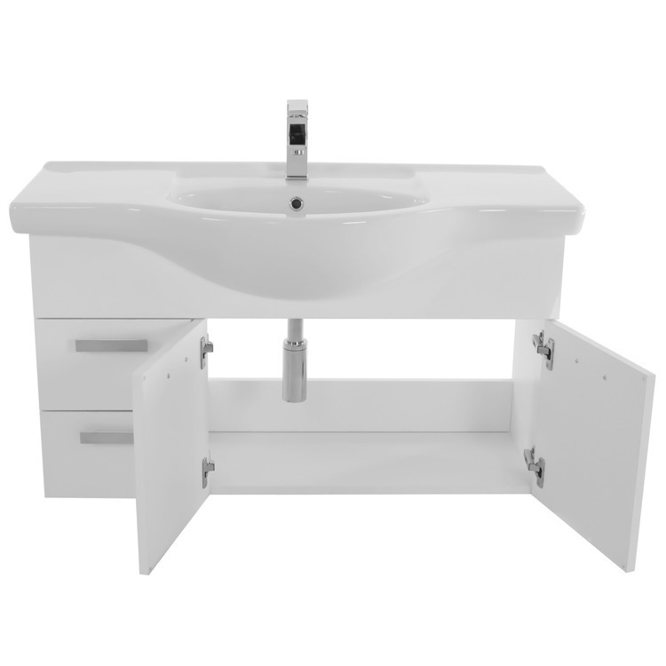 bathroom vanity acf ph87 39 inch wall mount glossy white bathroom