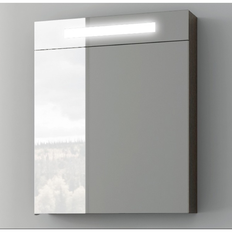 Medicine Cabinet, ACF S506-Glossy White, 24 Inch Medicine Cabinet with Neon Light