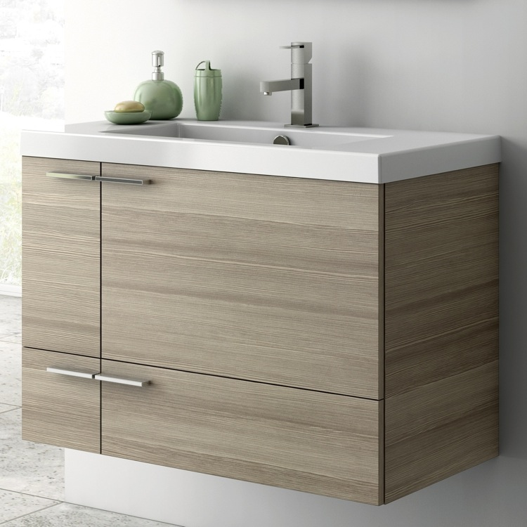 Nice Bathroom Vanity, ACF ANS31, 31 Inch Vanity Cabinet With Fitted Sink