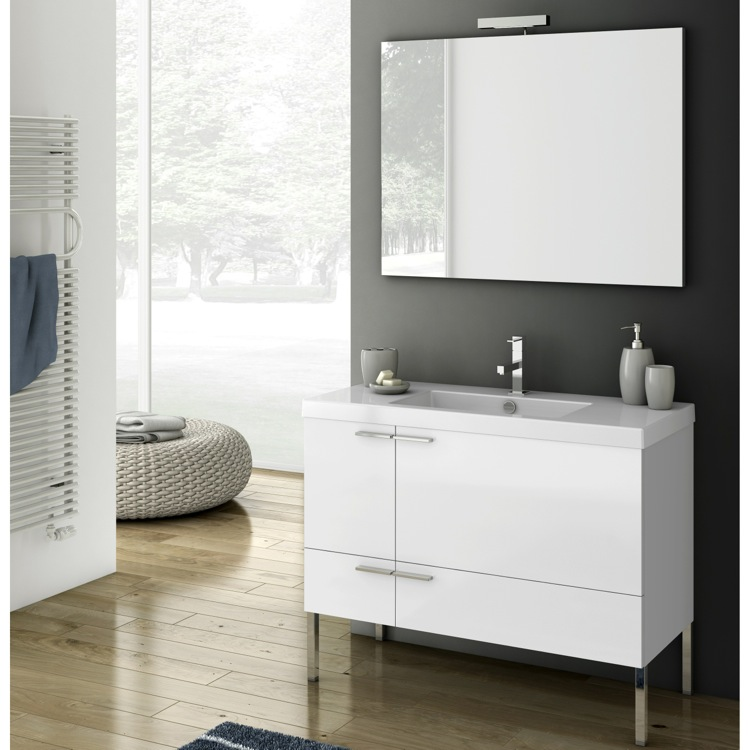 bathroom vanity acf ans04 39 inch bathroom vanity set - Bathroom Cabinets Kelowna