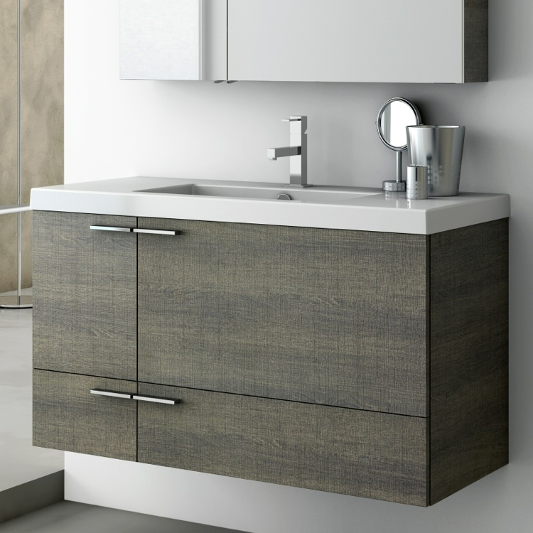 Inch Vanity Cabinet With Fitted Sink ACF ANS TheBathOutlet - 39 bathroom vanity cabinet