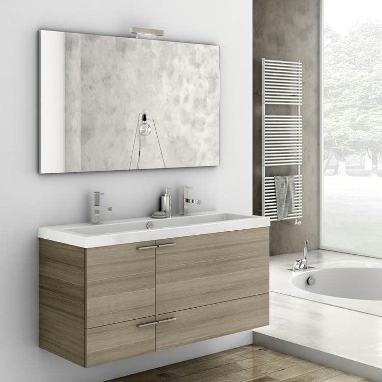Bathroom Vanity, ACF ANS08-Larch Canapa, 47 Inch Bathroom Vanity Set