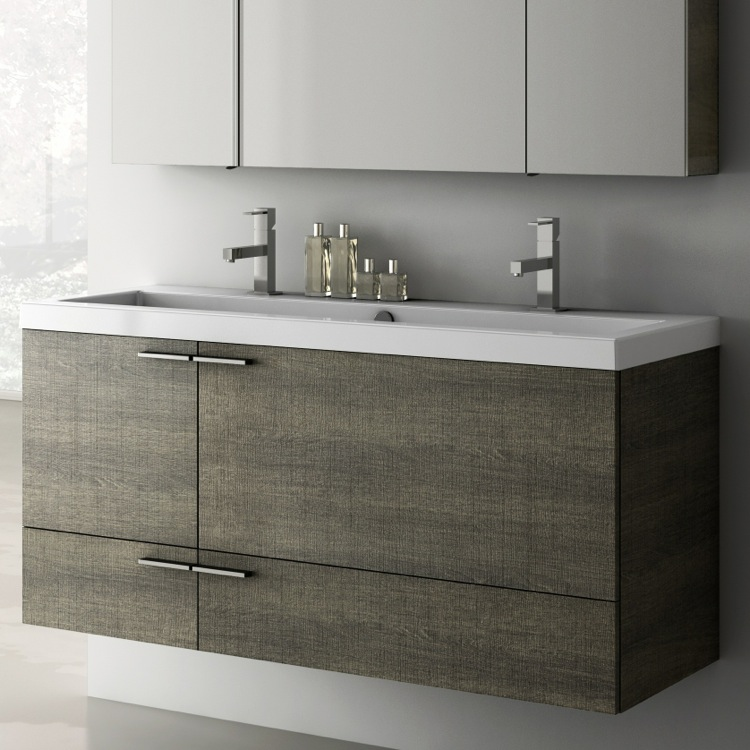 Superior Bathroom Vanity, ACF ANS39, 47 Inch Vanity Cabinet With Fitted Sink