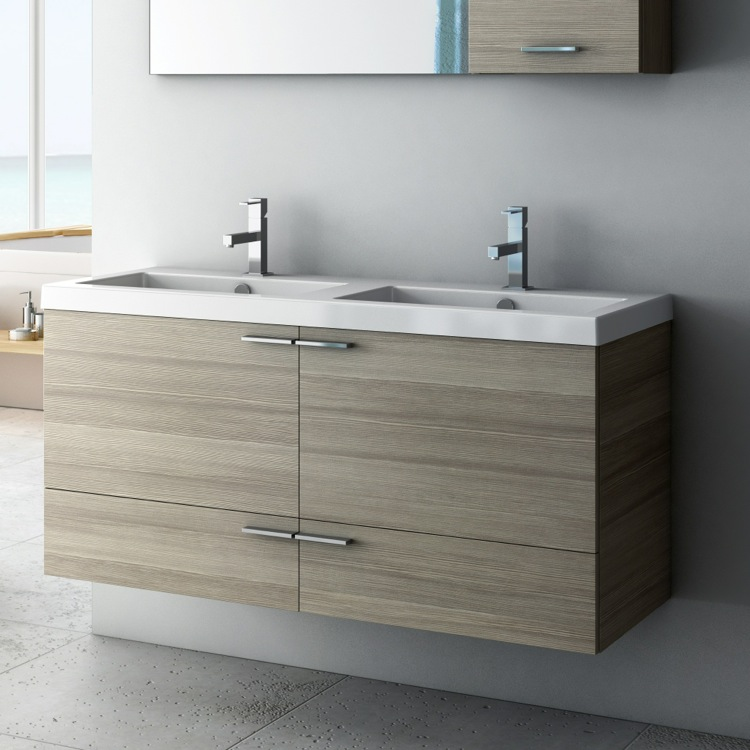 Inch Vanity Cabinet With Fitted Sink ACF ANS TheBathOutlet - 47 bathroom vanity sink cabinet