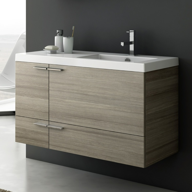Bathroom Vanity Acf Ans45 Larch Canapa 39 Inch Cabinet With Ed Sink