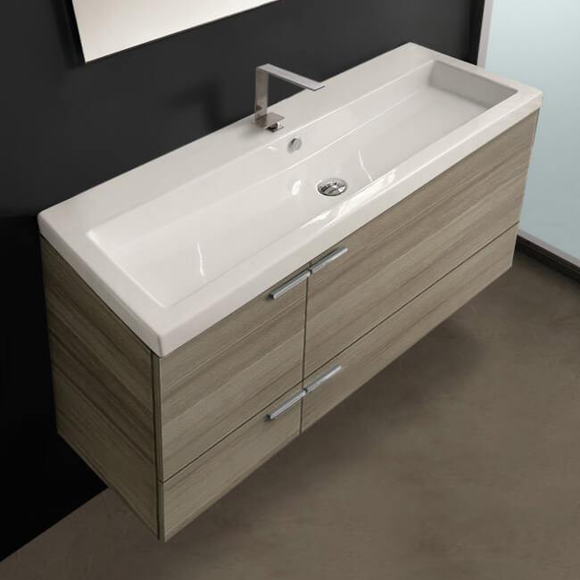 Acf Ans371 By Nameek S New Space 47 Inch Larch Canapa Bathroom Vanity Set Large Basin Sink Thebathoutlet