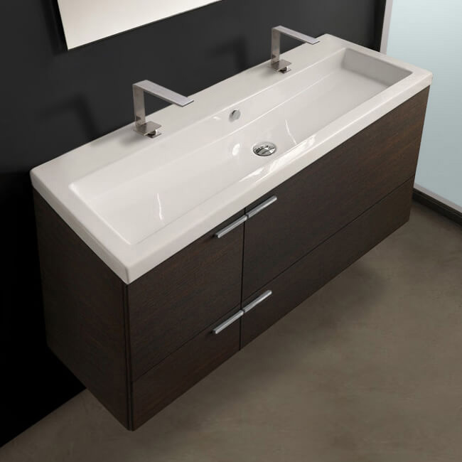 Bathroom Vanity, ACF ANS39-Wenge, 47 Inch Vanity Cabinet With Fitted Sink