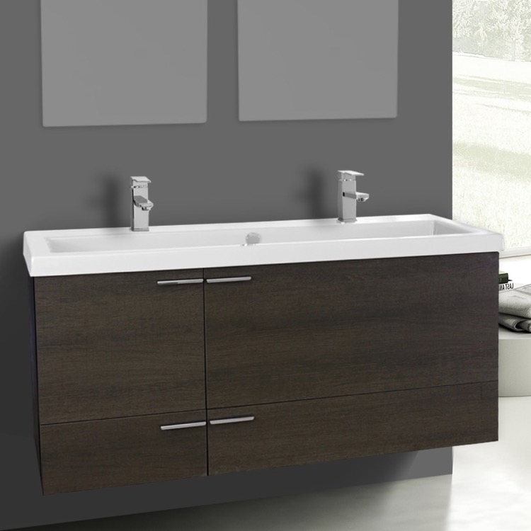 Bathroom Vanity Acf Ans1106 47 Inch Grey Oak Set Double Sink