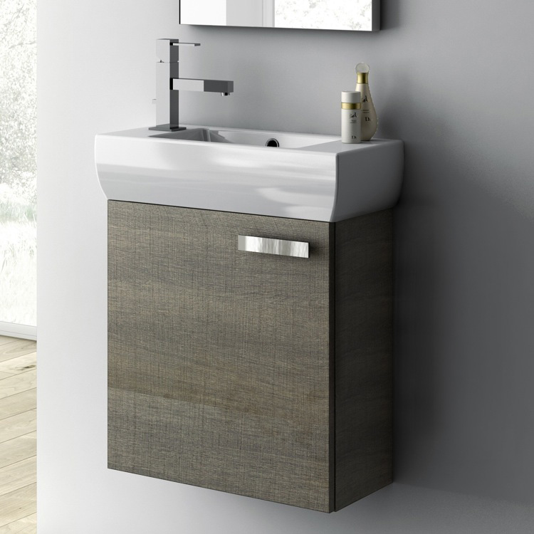 Undermount Sink For 18 Inch Vanity : Bathroom Vanity, ACF C13, 18 Inch Vanity Cabinet With Fitted Sink