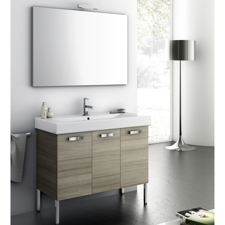 Bathroom Vanity, ACF C04-Larch Canapa, 39 Inch Bathroom Vanity Set