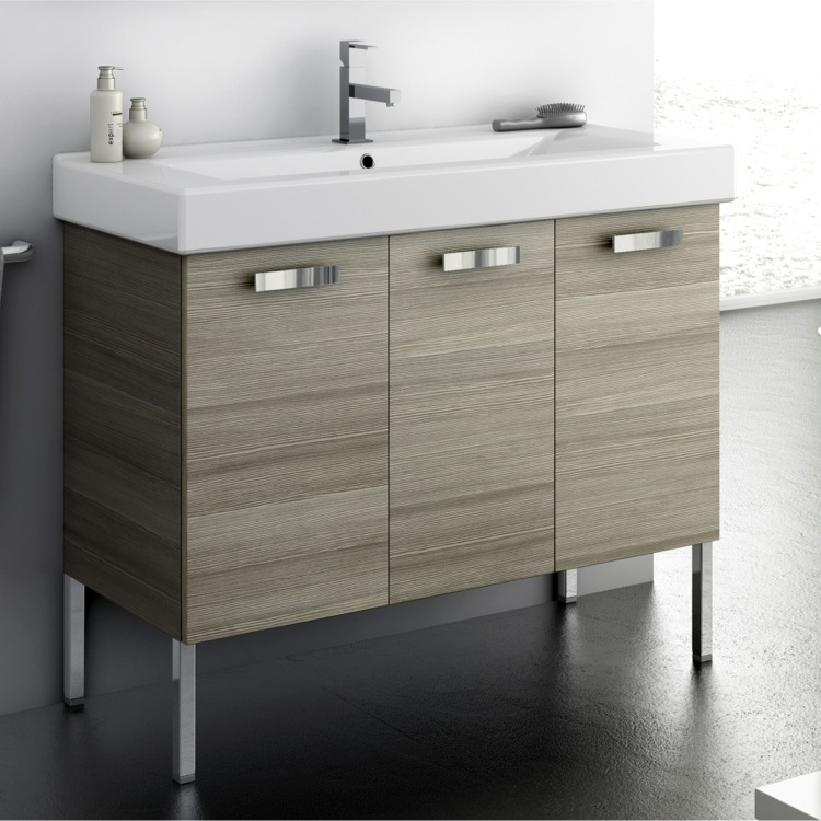 39 inch vanity cabinet with fitted sink, acf c16 - thebathoutlet