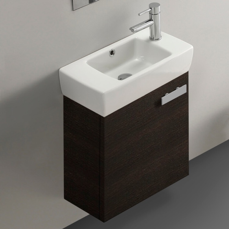 19 Inch Wenge Wall Mount Bathroom