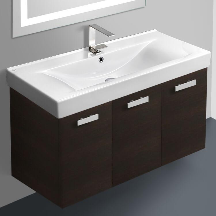 Acf C06 By Nameek S Cubical 39 Inch Bathroom Vanity Set Thebathoutlet
