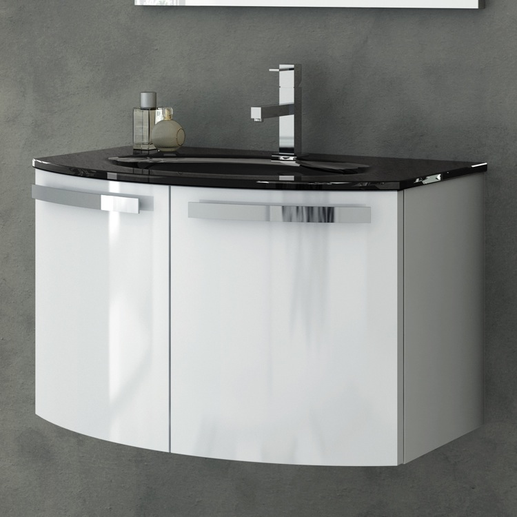 Bathroom Vanity, ACF CD05, 28 Inch Vanity Cabinet With Fitted Sink