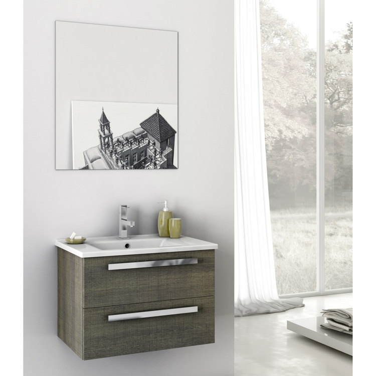 white sink finish inch vanity vessel legion modern bathroom