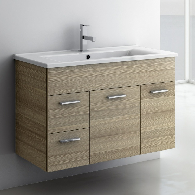 Inch Vanity Cabinet With Fitted Sink ACF LOR TheBathOutlet - 33 inch bathroom vanity