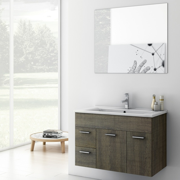 Inch Bathroom Vanity Set ACF LOR TheBathOutlet - 33 inch bathroom vanity