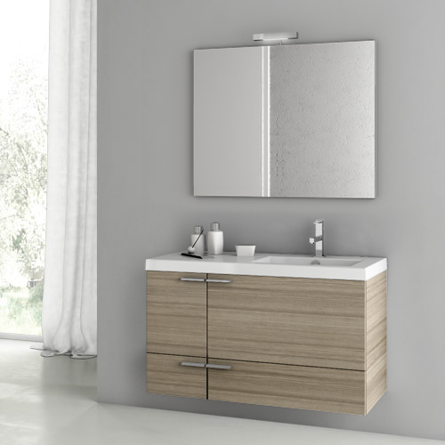 Bathroom Vanity, ACF ANS97, 39 Inch Larch Canapa Bathroom Vanity Set