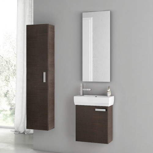 18 inch wenge bathroom vanity set, acf c53 - thebathoutlet 18 Inch Bathroom Vanity
