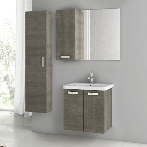 Bathroom Vanity ACF CP33 22 Inch Grey Oak Bathroom Vanity Set CP33