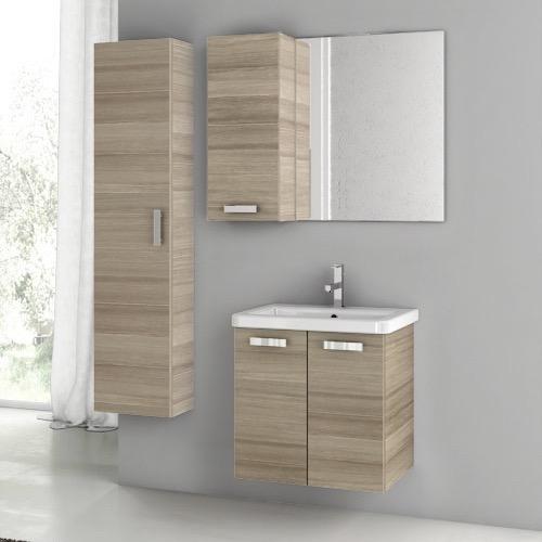 Great 22 Inch Larch Canapa Bathroom Vanity Set