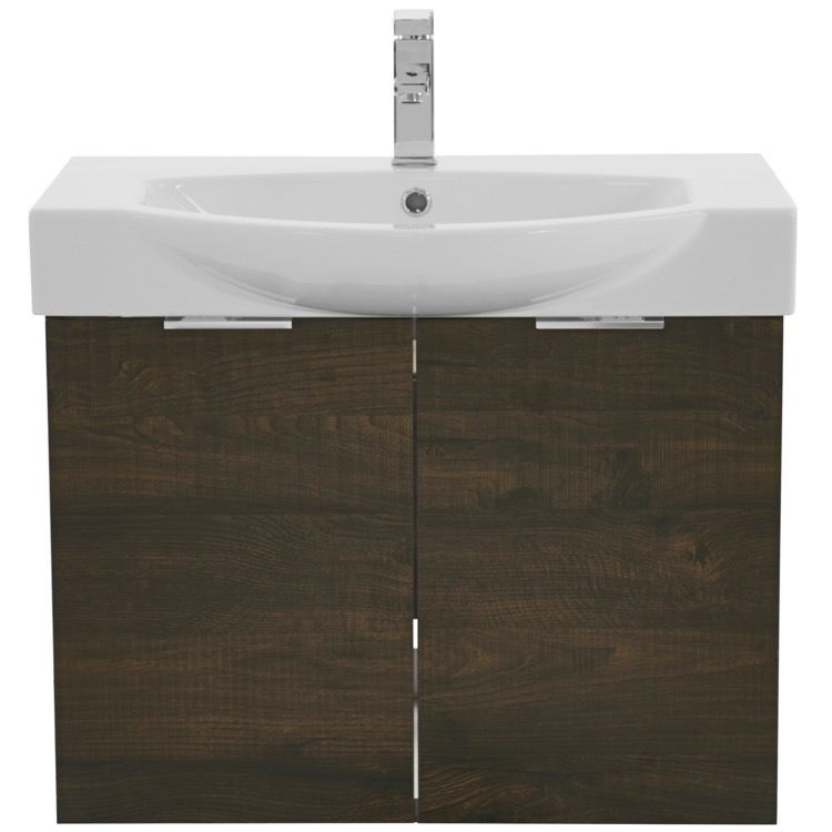 wall mount sherwood burn vanity cabinet with fitted curved sink kal07