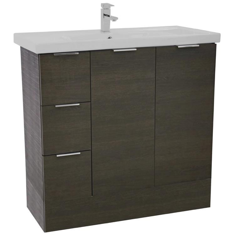 standing bathroom vanity set lighted vanity mirror included wa66. Black Bedroom Furniture Sets. Home Design Ideas