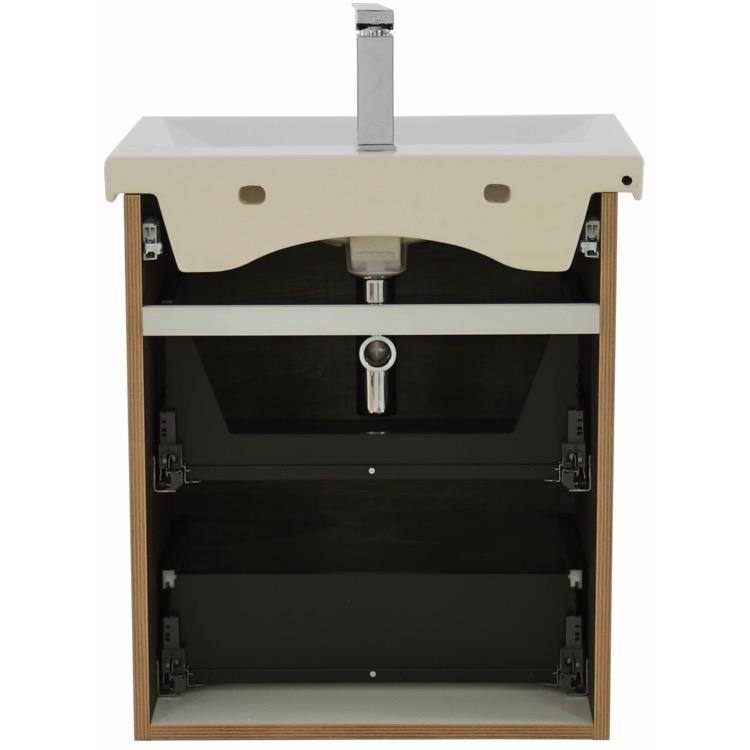 burn wall mounted bathroom vanity set lighted vanity mirror included. Black Bedroom Furniture Sets. Home Design Ideas