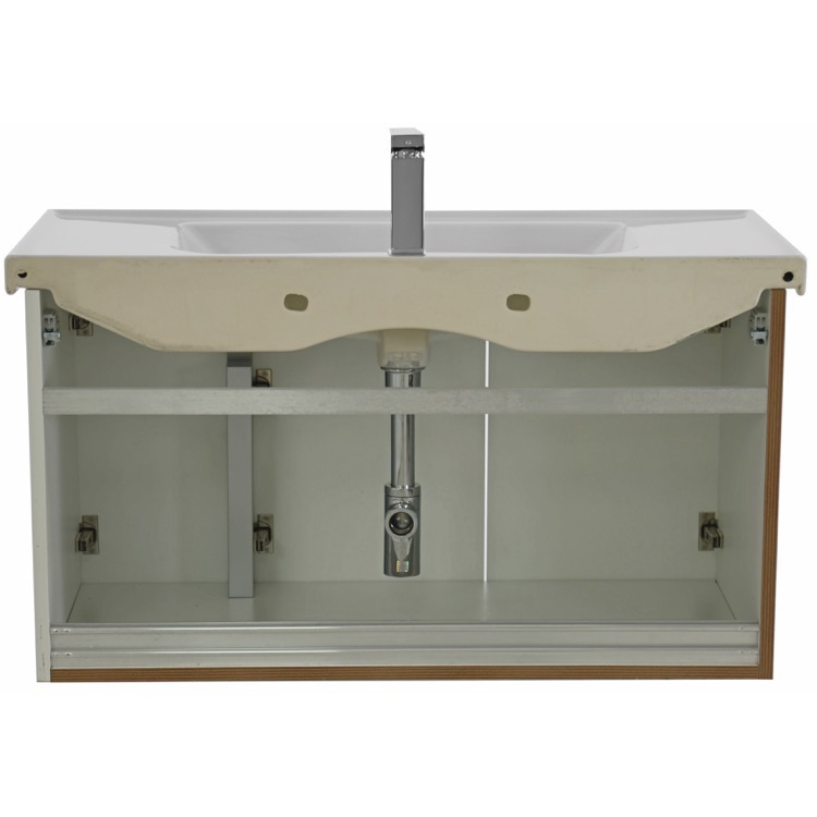 bathroom vanity arcom lam02 39 inch wall mount larch white vanity