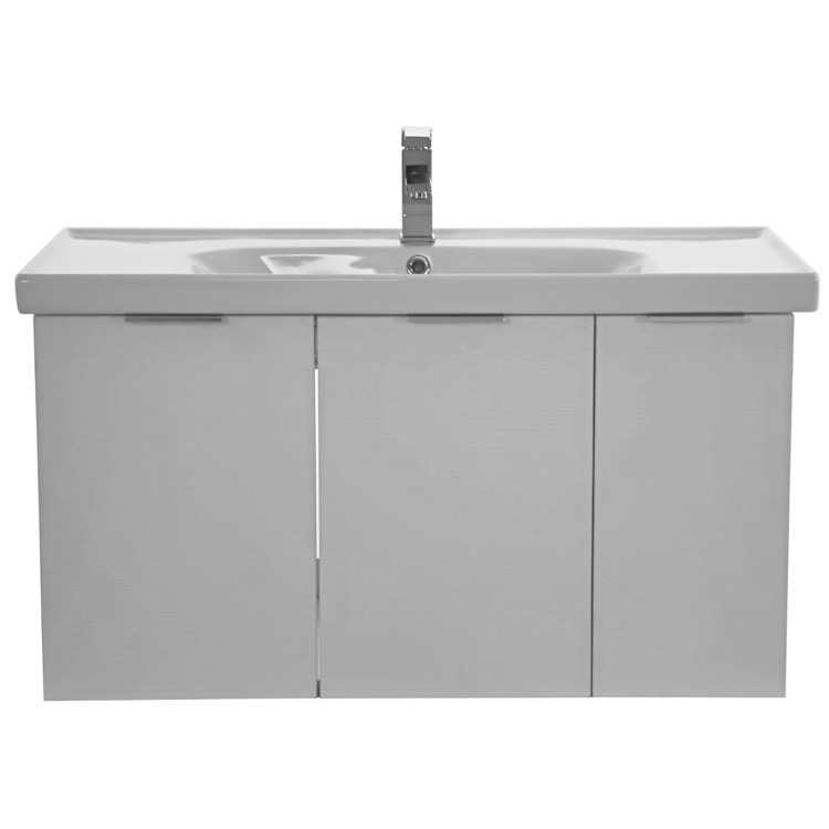 vanity arcom lam25 39 inch larch white wall mounted bathroom vanity
