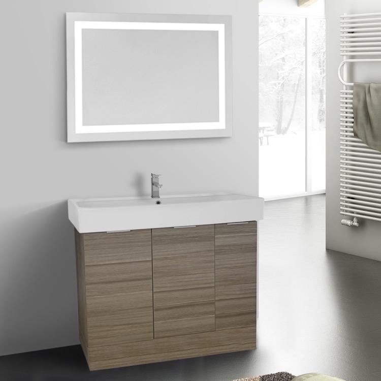 Bathroom Vanity, ARCOM O4O42, 40 Inch Larch Canapa Floor Standing Bathroom  Vanity Set,