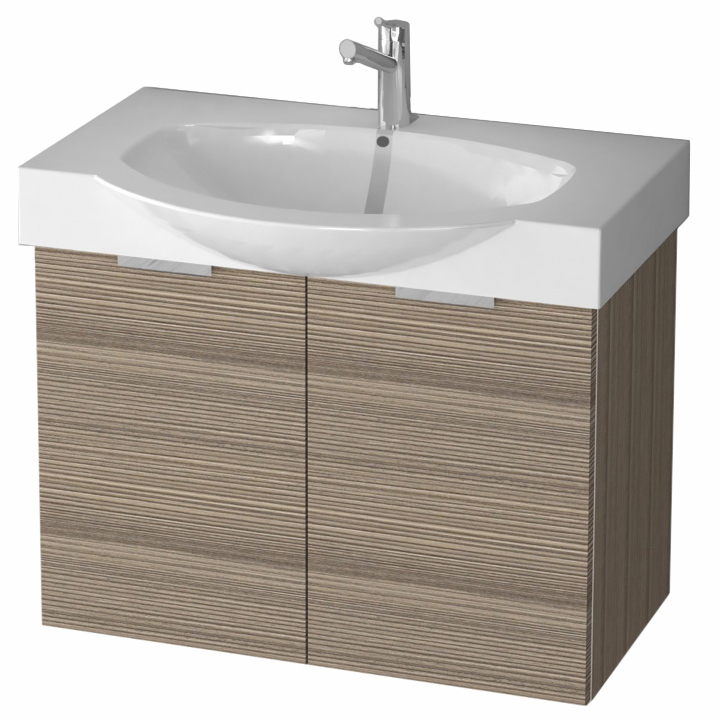 curved wall mount vanity