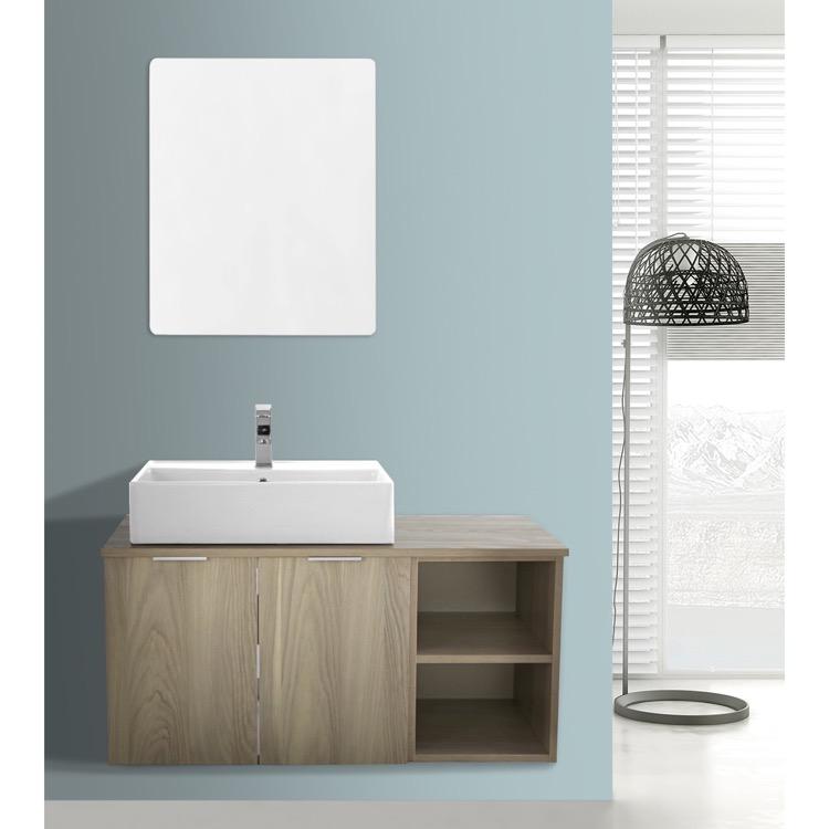 Inch Light Yosemite Wall Mounted Bathroom Vanity Set Vanity - 41 inch bathroom vanity