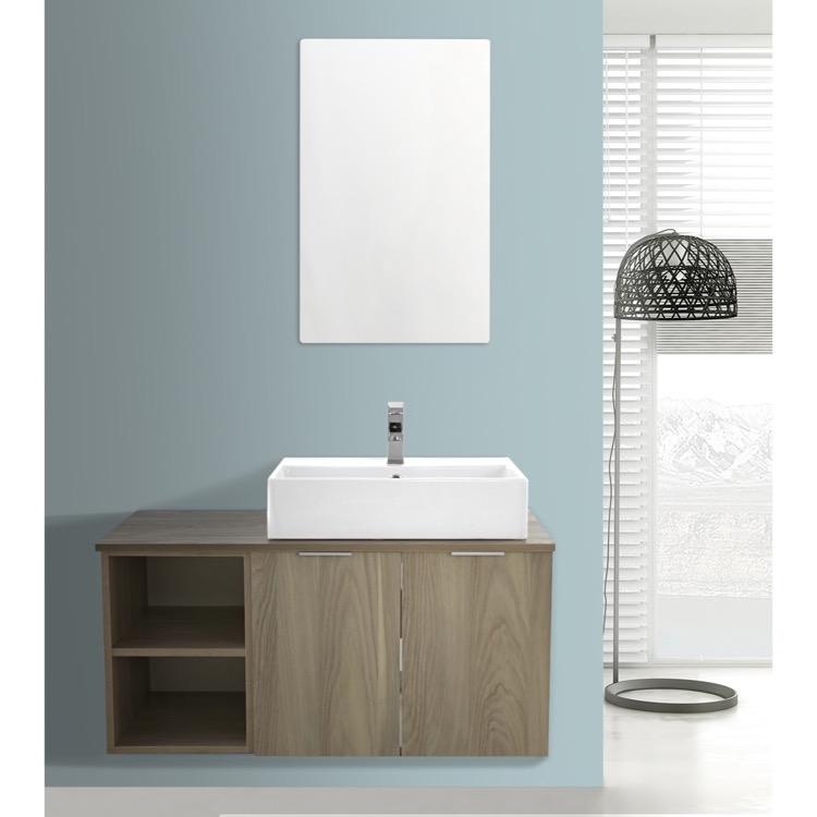 41 inch light yosemite wall mounted bathroom vanity set