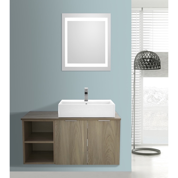 Vanity Light Wall Mirror : 41 Inch Light Yosemite Wall Mounted Bathroom Vanity Set, Lighted Vanity Mirror Included, ARCOM ...