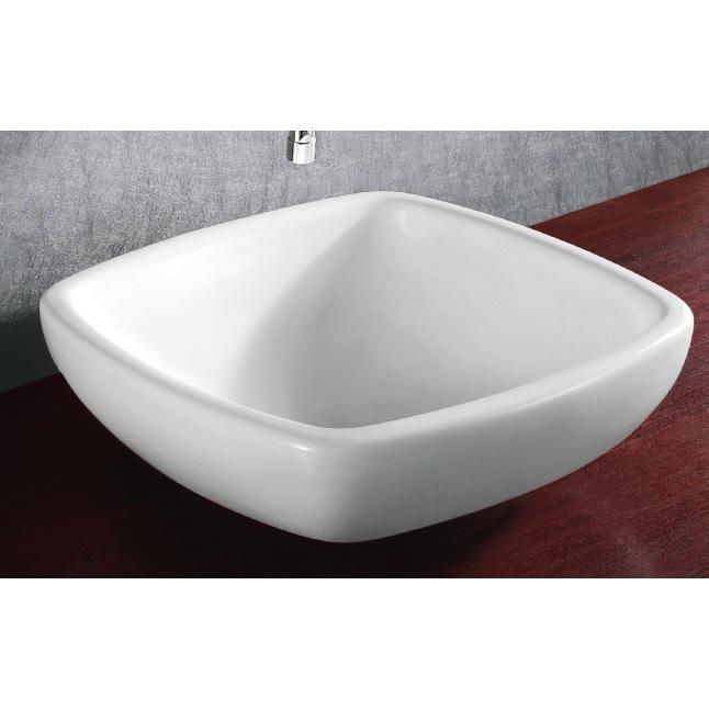 Square Drop In Bathroom Sink : Bathroom Sink, Caracalla CA4252, Square White Ceramic Drop In Bathroom ...