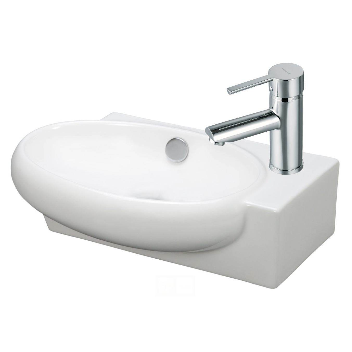 Bathroom Sink Toilet Combo : ... FAU504, Contemporary Ceramic Bathroom Sink and Faucet Combo FAU504