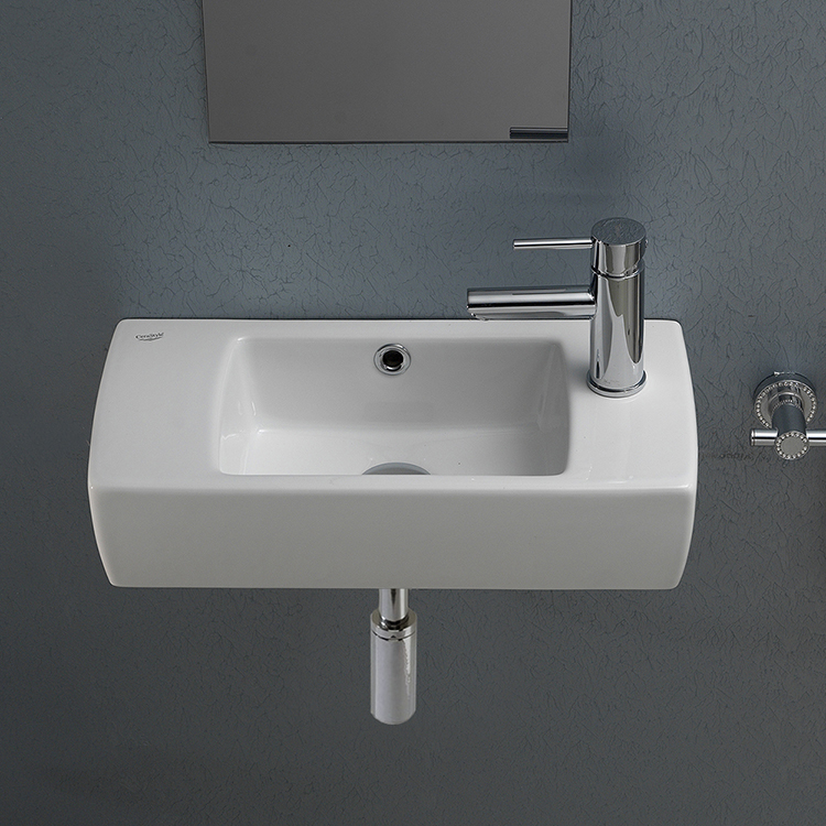 Cerastyle 001500 U By Nameek 39 S City Small Rectangular Ceramic Wall Mounted Or Drop In Bathroom