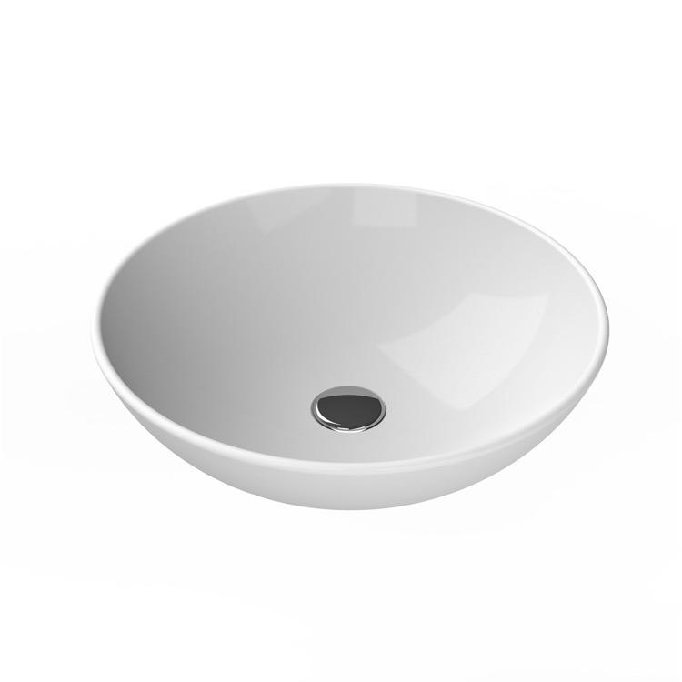Cerastyle 071600 U By Nameek S Zero Round White Ceramic Vessell Sink Thebathoutlet