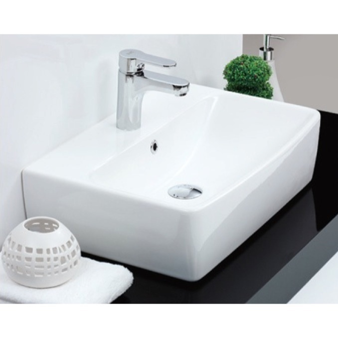 ... Square White Ceramic Wall Mounted or Vessel Bathroom Sink 061600-U