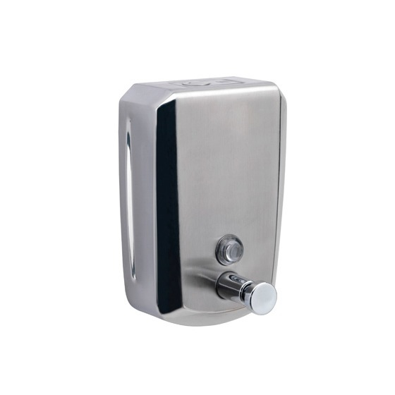 Gedy By Nameeks Dosatori Wall Mounted Stainless Steel Ml - Commercial bathroom soap dispenser