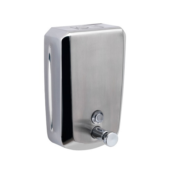 Soap Dispenser, Gedy 2082, Wall Mounted Stainless Steel 1200 ml Soap Dispenser