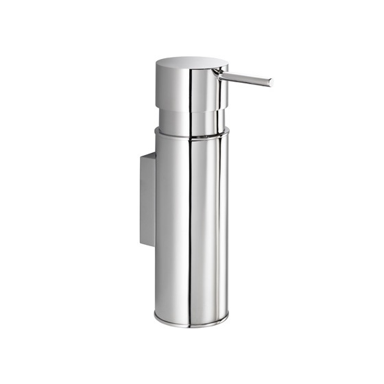 Soap Dispenser, Gedy 2086, Wall Mounted Round Chrome Soap Dispenser